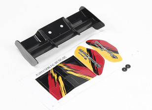 Rear wing w/spacer, decal - Basher SaberTooth 1/8 Scale Truggy
