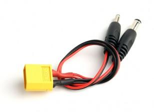 XT60 Male to 2 DC Jack Plug Connectors (1pc)