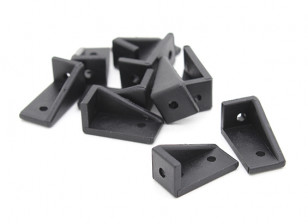 RotorBits 20x10 Right Angle Bracket  LH (Black) (10pcs/bag)