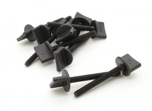Nylon Thumbscrew Wing Bolt M4x35 (10pcs)