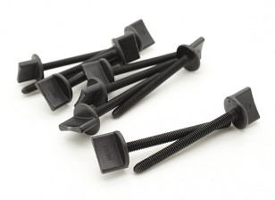 Nylon Thumbscrew Wing Bolt M4x45 (10pcs)