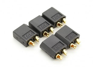 Black XT60 Male Connectors (5pcs)