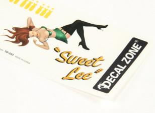 Nose Art - Sweet Lee 250 x 85mm Self Adhesive Decal Set