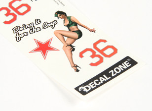 Nose Art - Doing It For The Boys 250 x 85mm Self Adhesive Decal Set