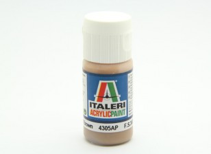 Italeri Acrylic Paint - Flat Light Brown (4395AP)
