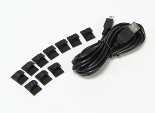 3 Meter USB To Mini USB Charging Cable With Mounting Pads