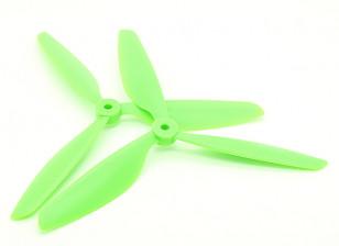 Hobbyking™ 3-Blade Propeller 9x4.5 Green (CW/CCW) (2pcs)