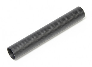 30 x 27 x 200mm Carbon Fibre Tube (3K) Plain Weave Matt Finish