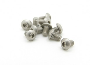 Titanium M2.5 x 4mm Button Head Hex Screw (10pcs/bag)