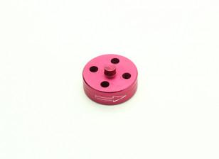 CNC Aluminum Quick Release Self-Tightening Prop Adapter - Red (Prop Side) (Clockwise)