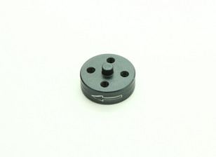 CNC Aluminum Quick Release Self-Tightening Prop Adapter - Titanium (Prop Side) (Counter-clockwise)
