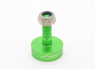 CNC Aluminum M6 Quick Release Self-Tightening Prop Adapter - Green (Prop Side) (Counter-Clockwise)