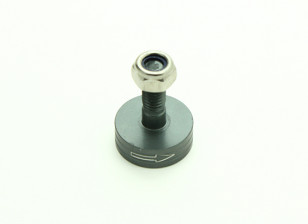 CNC Aluminum M6 Quick Release Self-Tightening Prop Adapter - Titanium (Prop Side) (Clockwise)