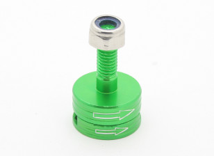 CNC Aluminum M6 Quick Release Self-Tightening Prop Adapter Set - Green (Clockwise)