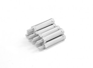 Lightweight Aluminum Round Section Spacer With Stud end M3 x 25mm (10pcs/set)