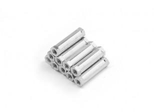 Lightweight Aluminum Round Section Spacer M3 x 20mm (10pcs/set)
