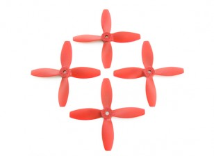 Lumenier FPV Racing Propellers 4040 4-Blade Red (CW/CCW) (2 Pairs)
