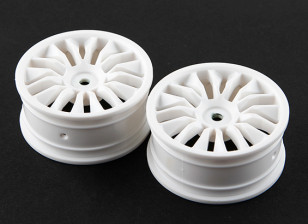 Basher RZ-4 1/10 Rally Racer - 26mm Front Wheel - White (2pcs)