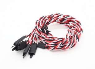Twisted 45cm Servo Lead Extention (Futaba) with hook 22AWG (5pcs/bag)