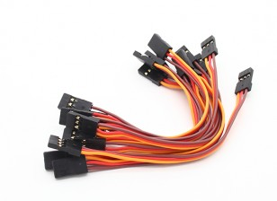 10CM Female to Female Servo Lead (JR) 26AWG (10pcs/set)