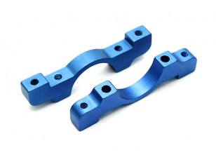 Blue Anodized CNC Aluminum Tube Clamp 16mm Diameter
