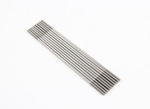 M2x90mm Stainless Steel Push Rods (LH & RH Threaded) (10pcs)