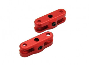 25mm Folding Propeller Adapter for 3mm Shaft (Red) 1 Pair