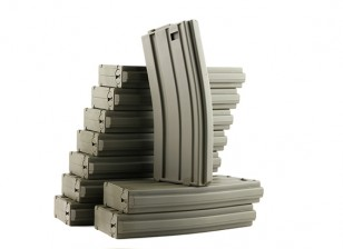 King Arms 120rounds magazines for Marui M4/M16 AEG series (Olive Drab, 10pcs/ box)