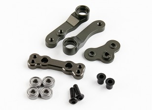 Optional Steeing Arm Completed Set (Titanium) - BSR Racing BZ-222 1/10 2WD Racing Buggy