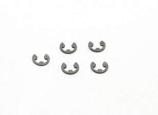 BSR Racing M.RAGE 4WD M-Chassis - E-Clips (5pcs)