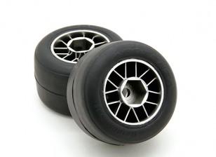 RiDE Pre-Glued F104 Rear R1 High Grip Compound Slick Rubber Tire Set (2pcs)