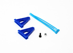 RJX Tail Boom Support Reinforcement for 6mm Rods - Blue
