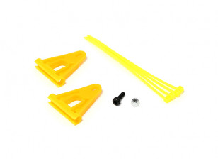 RJX Tail Boom Support Reinforcement for 6mm Rods - Yellow