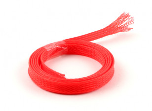 Wire Mesh Guard Neon Red 8mm (1m)
