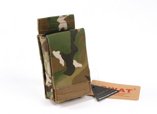 SWAT Cordura M4 Speed open single Magazine Pouch(Multicam)
