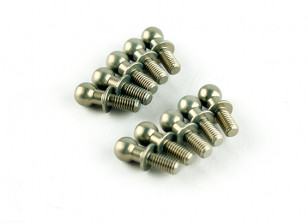 7075 Aluminum Teflon Coated 4.8mm Ball Stud L=6 (10pcs) - 3Racing SAKURA FF 2014