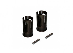 Heavy Duty Solid Axle Outer Joint (2pcs) - 3Racing SAKURA FF 2014