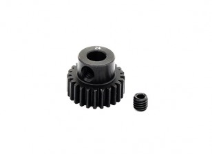 Hobbyking™ 0.6M Hardened Steel Helicopter Pinion Gear 5mm Shaft - 24T