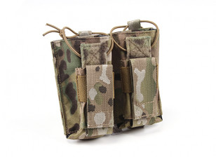 Grey Ghost Gear Double AK and Pistol Magazine Pouch(Multicam)