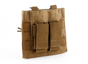 Grey Ghost Gear Double M4/Pistol mag with Chemlite Pouch(Coyote Brown)