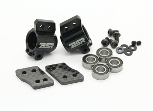 Option Alu. 1 degree Rear Hub Set - BSR Racing BZ-444 or BZ-444 Pro 1/10 4WD Racing Buggy
