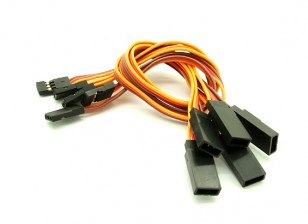 20cm JR 26AWG Straight Extension Lead M to F 5pcs