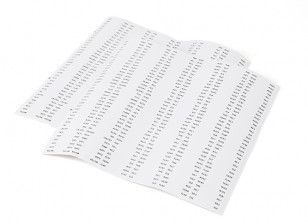 Servo Lead/Receiver Identitfication Labels - Set of 444