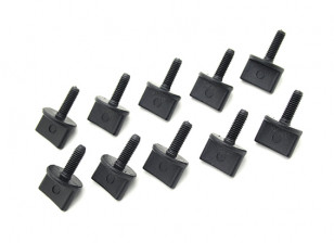 Nylon Thumbscrew Wing Bolt M4x12mm Black (10pc)