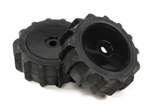 1/8 Scale Black Pro Dish Wheels With Paddle Style Tyres (2pc)
