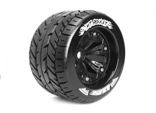 "LOUISE MT-ROCKET 1/8 Scale Traxxas Style Bead 3.8"" Monster Truck SPORT Compound / Black Rim"