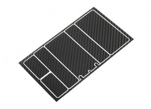 TrackStar Decorative Battery Cover Panels for 2S Shorty Pack Black Carbon Pattern (1 Pc)