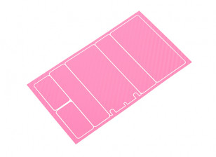 TrackStar Decorative Battery Cover Panels for 2S Shorty Pack Pink Carbon Pattern (1 Pc)