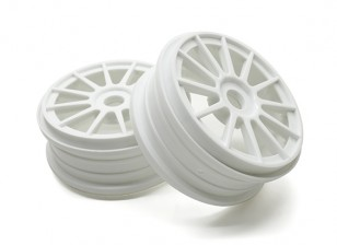 Basher 1/8 Scale Rally 12 Spoke White Wheel Rim 17mm Hex (2pc)
