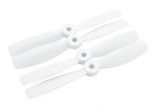 Diatone Bull Nose Plastic Propellers 5 x 4.5 (CW/CCW) (White) (2 Pairs)